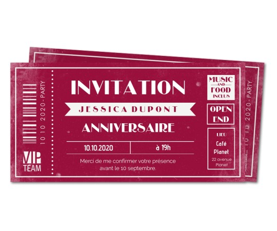 impression carton d'invitation pas cher