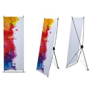 impression x banner stand